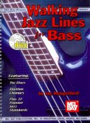 Walking Jazz Lines for Bass + Audio Online
