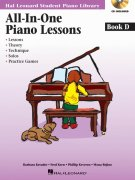PIANO LESSONS - ALL IN ONE - book D + CD (lessons, theory, technique, solos, practice games)