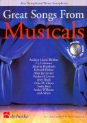 Great Songs from Musicals + CD //  alto / tenor saxofon