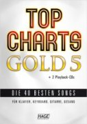 Top Charts Gold 5 + 2 CD skladby pro keyboard