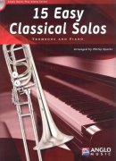 15 Easy Classical Solos + CD / trombone (BC+TC in Bb) + piano / trombon + klavír