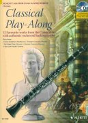 Classical Play-Along + CD - 12 favourite works from the Classical - klarinet
