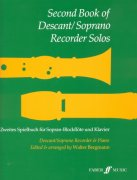 Second Book Of Descant (Soprano) Recorder Solos / zobcová flétna + klavír