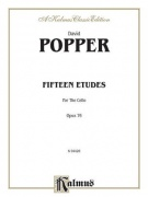 David Popper: Fifteen Etudes For Cello Op.76