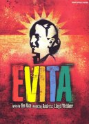 EVITA - vocal selections from the musical - klavír / zpěv / akordy