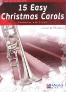 15 Easy Christmas Carols + CD / trombon (pozoun) + klavír