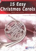 15 Easy Christmas Carols + CD / lesní roh (f horn) + klavír