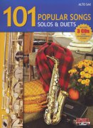 101 POPULAR SONGS SOLOS & DUETS + 3x CD / altový saxofon