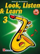 LOOK, LISTEN & LEARN 3 + CD method for alto sax