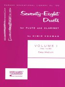 Seventy-Eight Duets for Flute and Clarinet 1 (1-55) / 78 duet pro příčnou flétnu a klarinet 1