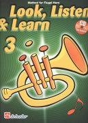 LOOK, LISTEN & LEARN 3 + CD method for flugel horn / křídlovka