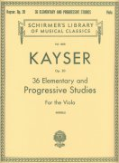 KAYSER: 36 Elementary and Progressive Studies for the Viola, op.20 / viola