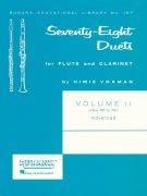 Seventy-Eight Duets for Flute and Clarinet 2 (56-78) / 78 duet pro příčnou flétnu a klarinet 2