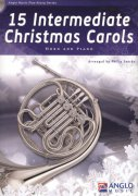 15 Intermediate Christmas Carols + CD / lesní roh (f horn) + klavír
