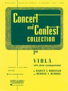 CONCERT & CONTEST COLLECTIONS viola - klavírní doprovod