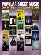 Popular Sheet Music - 30 hits from 2014-2016 // klavír/zpěv/kytara