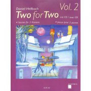TWO FOR TWO 2 + CD - Hellbach Daniel - 4 skladby pro 8 ruk