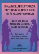 200 Years of Clarinet Music: BAROQUE AND CLASSICISM / klarinet + klavír