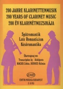 200 Years of Clarinet Music: LATE ROMANTICISM / klarinet + klavír