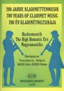 200 Years of Clarinet Music: THE HIGH ROMANTIC ERA / klarinet + klavír