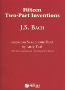 BACH: Fifteen Two-Part Inventions for Saxophone Duet (AA or AT) / 15 duet pro dva saxofony