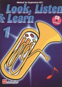 LOOK, LISTEN & LEARN 1 + CD / method for Euphonium B.C. (basový klíč)