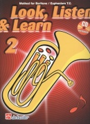 LOOK, LISTEN & LEARN 2 + CD / method for Baritone / Euphonium T.C. (houslový klíč)
