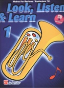 LOOK, LISTEN & LEARN 1 + CD / method for Baritone / Euphonium T.C. (houslový klíč)