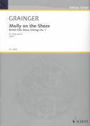 Grainger: Molly on the Shore - British Folk Music for string quartet / partitura + party