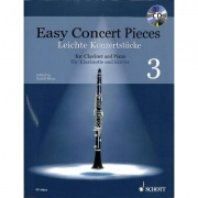 Easy Concert Pieces 3 + CD pro klarinet a klavír