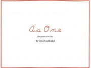 Koshinski, Gene: As One for Percussion Duet