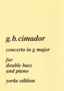 Cimador: Concerto in G major / kontrabas + klavír