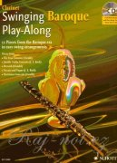 Swinging Baroque Play-Along + CD - klarinet a klavír