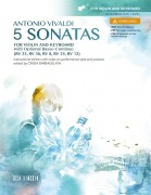 5 Sonatas for violin and keyboard - Instructional edition with notes on performance style and practice edited by Cinzia Barbagelata