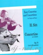 Concertino In A Minor For Violin And Piano Op.70