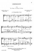 Chorales (from the St. John Passion)  / SATB