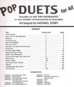 POP DUETS FOR ALL (Revised and Updated) level 1-4 //  percussion