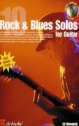 10 ROCK & BLUES SOLOS FOR GUITAR + CD / kytara + tabulatura