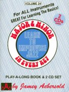 AEBERSOLD PLAY ALONG 24 - MAJOR & MINOR IN EVERY KEY + CD
