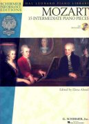MOZART - 15 intermediate piano pieces + Audio Online