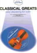 CLASSICAL GREATS easy arrangements + CD  housle