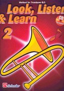 LOOK, LISTEN & LEARN 2 + CD method for trombone / pozoun