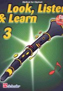 LOOK, LISTEN & LEARN 3 + CD method for clarinet / klarinet