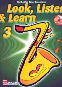 LOOK, LISTEN & LEARN 3 + CD method for tenor sax / tenorový saxofon