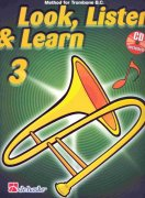 LOOK, LISTEN & LEARN 3 + CD method for trombone / pozoun
