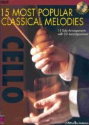 15 MOST POPULAR CLASSICAL MELODIES + CD / violoncello