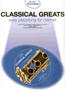 CLASSICAL GREATS easy arrangements + CD   klarinet