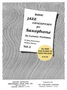 Jazz Conception for Saxophone by Lennie Niehaus 2 (white) + CD for C / Bb / Eb instruments