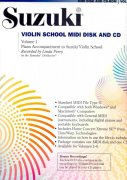 Suzuki Violin School MIDI Disk & CD, Volume 1 - piano accompaniment to Suzuki Violin School