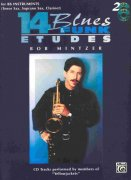 14 Blues & Funk Etudes by Bob Mintzer + 2x CD for Bb instruments (Tenor Sax, Soprano Sax, Clarinet)